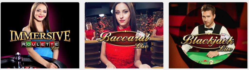 populära live casino spel